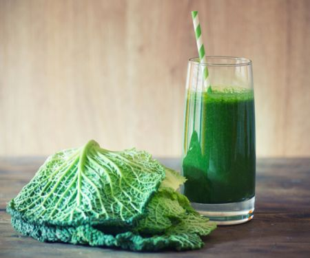 Green Smoothie mit Kohl