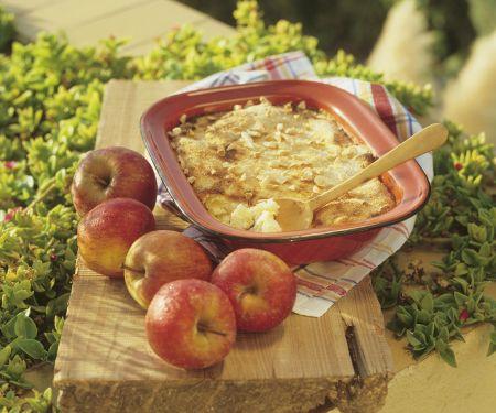 Grießauflauf mit Äpfel
