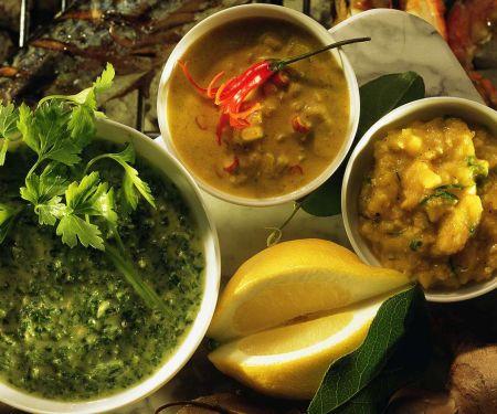Grillsaucen zu Fisch & Garnelen