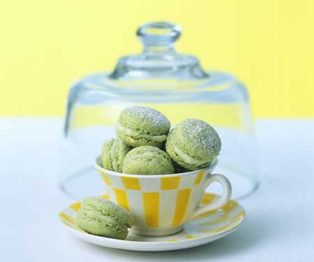Grüne Macarons