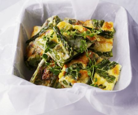Grüne Spargel-Frittata