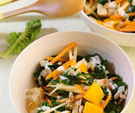 Grünkohlsalat mit Möhren