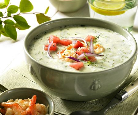 Gurken-Garnelen-Suppe