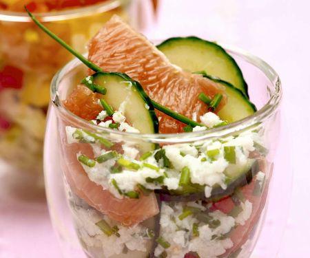 Gurken-Grapefruit-Salat