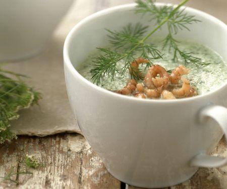 Gurken-Krabbensuppe mit Dill