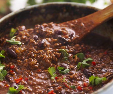 Hackfleisch Eintopf auf mexikanische Art (Chili con Carne)