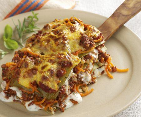 Hackfleisch-Lasagne mit Kürbis