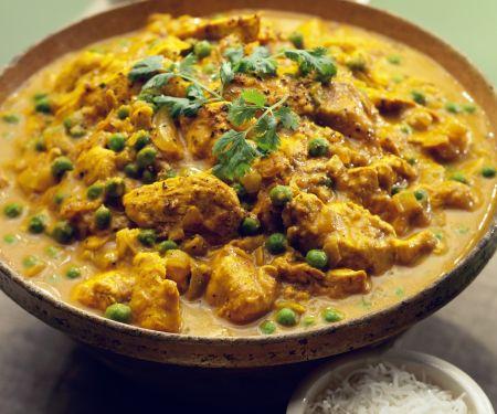 Hähnchen-Erbsen-Curry mit Bananen