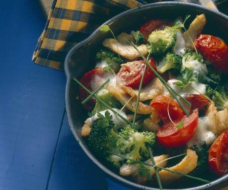 Hähnchen-Gemüsepfanne