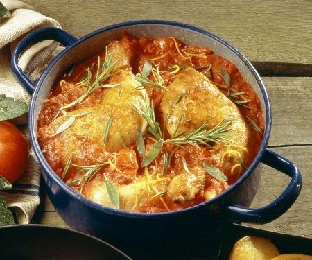 Hähnchen mit Tomatensauce