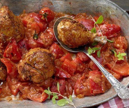 Hähnchen-Paprika-Topf