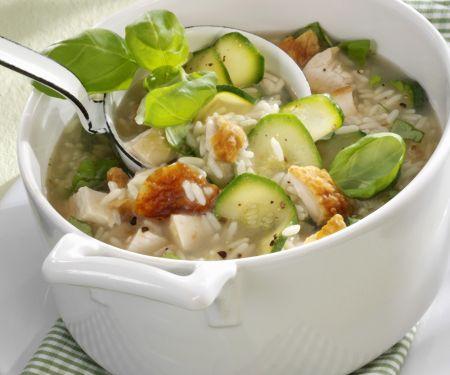 Hähnchen-Reis-Eintopf mit Zucchini