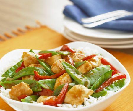 Hähnchen-Reis mit Gemüse