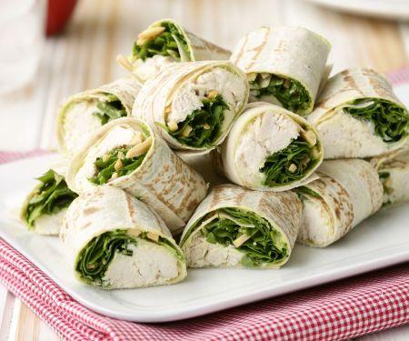 Hähnchen-Wraps mit Rucola