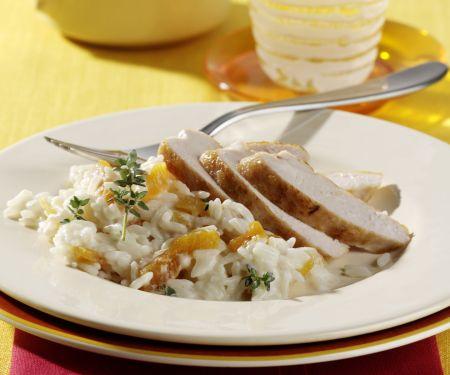 Hähnchenbrust mit Aprikosen-Thymian-Reis