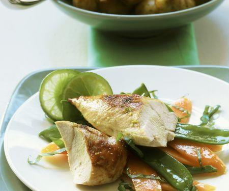 Hähnchenbrust mit Kartoffeln und Limettenbutter