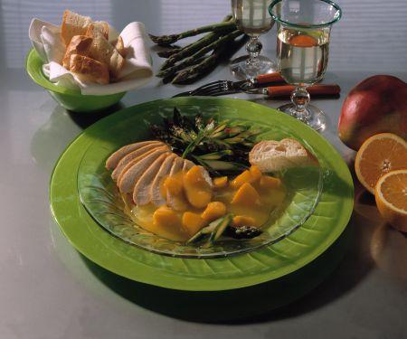 Hähnchenbrust mit Mango-Orangensauce