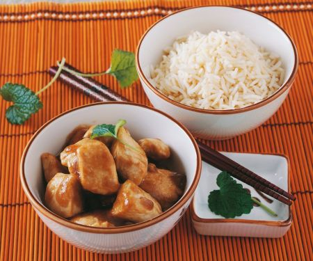 Hähnchenbrust mit Reis