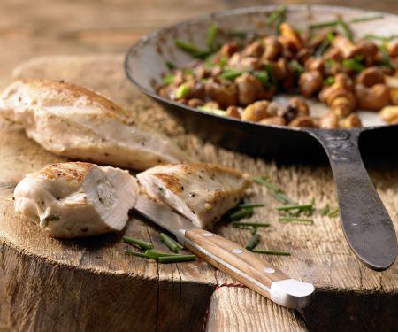 Rezept: Hähnchenbrust mit Ziegenkäse