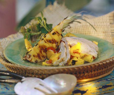 Hähnchensalat mit Ananas auf kreolische Art