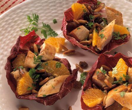 Hähnchensalat mit Orangen