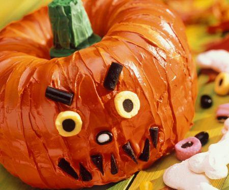 Halloween-Kürbiskuchen