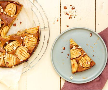 Haselnuss-Apfelkuchen