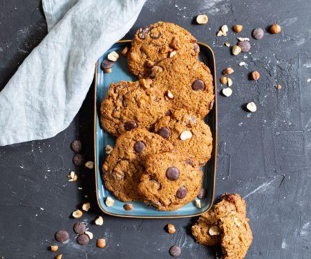 Haselnuss-Schoko-Cookies mit Sauerteig