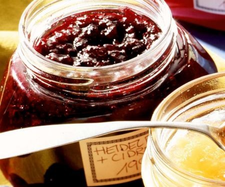 Heidelbeer-Cidre-Marmelade