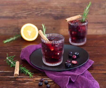 Heidelbeer-Mocktail mit Zimt