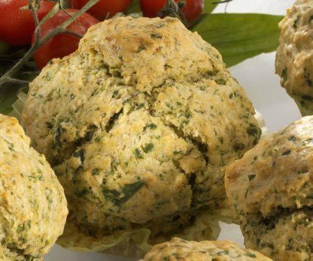 Herzhafte Muffins mit Bärlauch