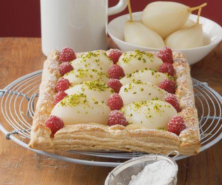 Himbeer-Birnen-Kuchen