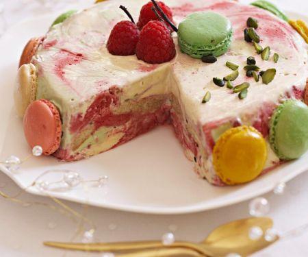 Himbeer-Eiskuchen