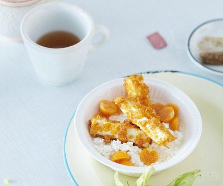 Hüttenkäse mit frittiertem Tofu