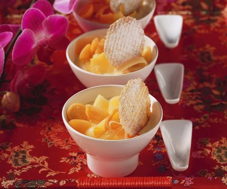 Ingwer-Soja-Creme mit Obst