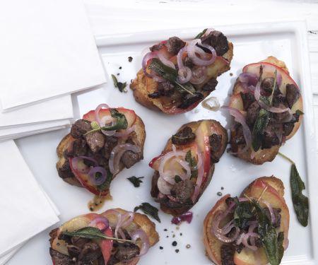Italienische Hähnchenleber-Brote