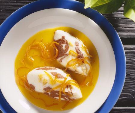 Joghurtmousse mit Orangen