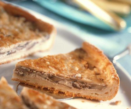 Käse-Champignon-Tarte