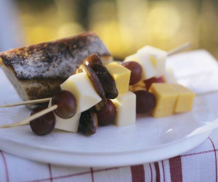 Käse-Frucht-Spieße