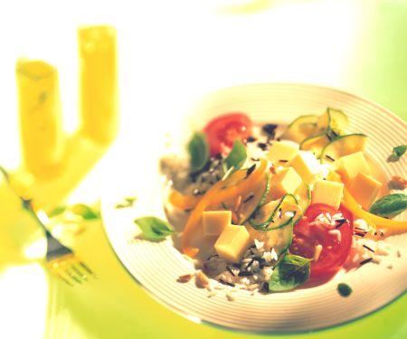 Käse-Reis-Salat