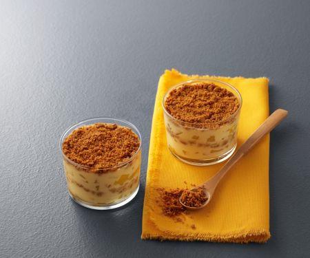 Käsekuchen im Glas mit Ananas