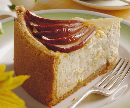 Käsekuchen mit Honig-Apfel