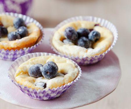 Käsekuchen-Muffins mit Blaubeeren