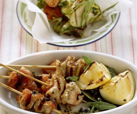 Kalb-Zucchini-Spieße