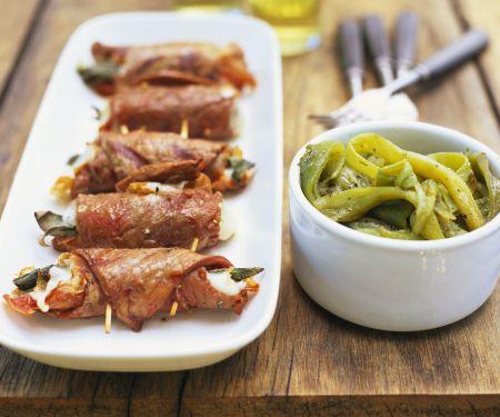 Kalbsfleischröllchen mit Mozzarellafüllung
