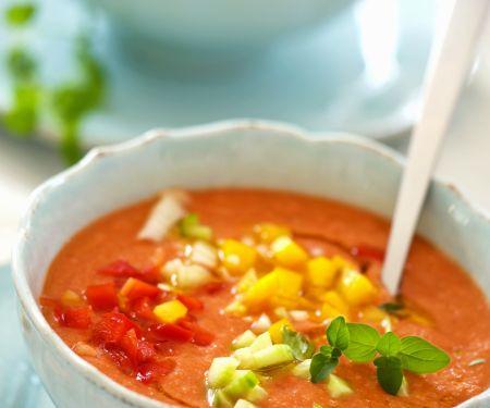 Kalte spanische Suppe (Gazpacho)