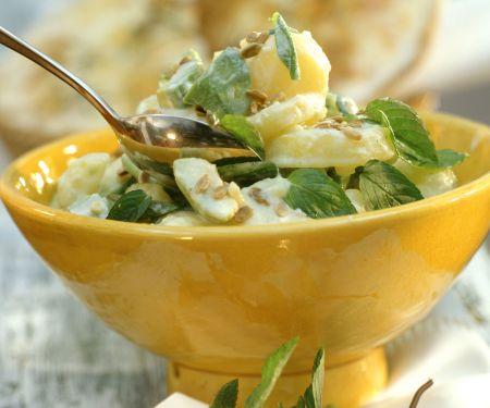 Kartoffel-Avocado-Salat mit Minze