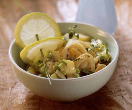 Kartoffel-Bohnen-Salat mit Calamari