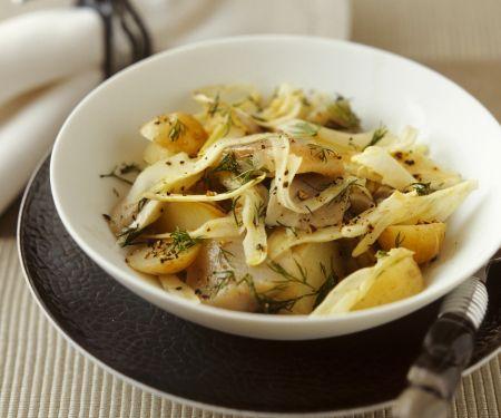 Kartoffel-Fenchel-Salat mit Matjes