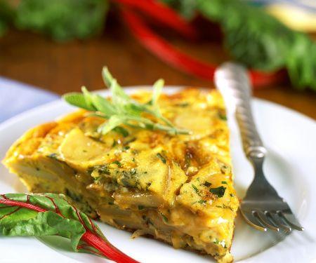 Kartoffel-Mangold-Frittata